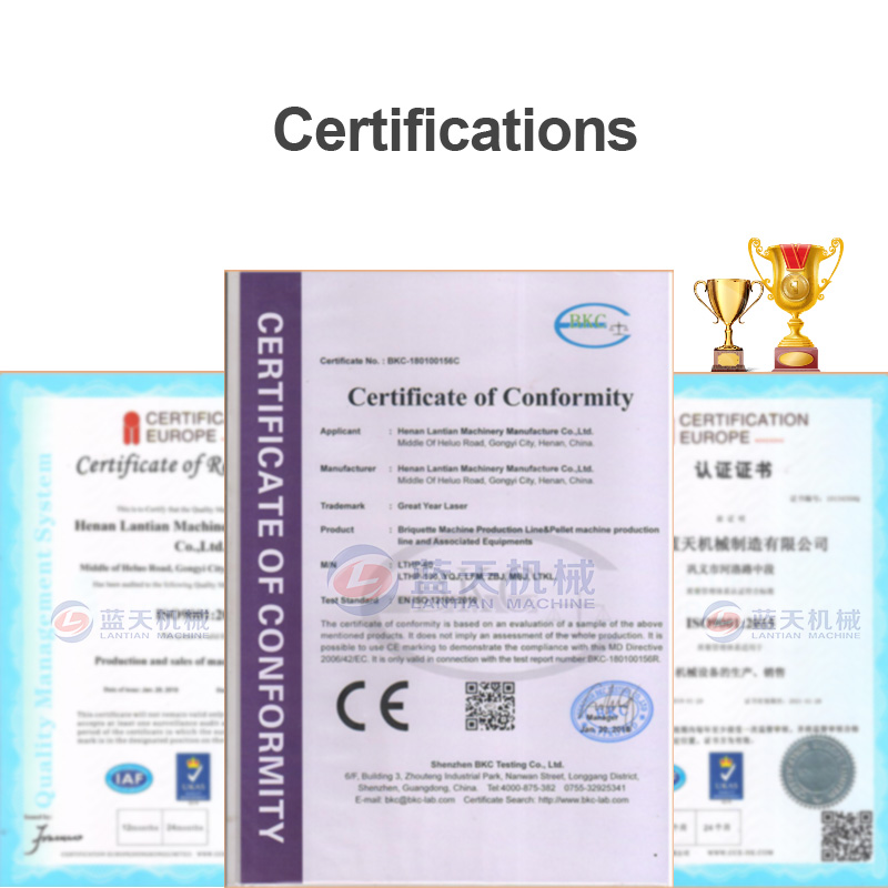 potato dryer machine manufacturer certifications