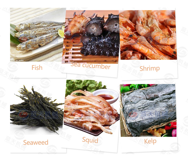 Other seafood drying effects