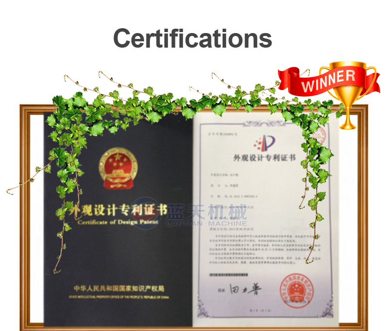 Honeysuckle dryer manufacturer's qualification certificate